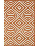 RugStudio presents Loloi Catalina CF-04 Orange / Ivory Machine Woven, Good Quality Area Rug
