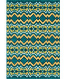RugStudio presents Loloi Catalina CF-10 Peacock / Citron Machine Woven, Good Quality Area Rug