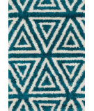 RugStudio presents Loloi Cosma CO-02 Blue / Ivory Machine Woven, Good Quality Area Rug