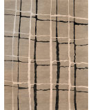 RugStudio presents Rugstudio Sample Sale 54054R Silver - Black Hand-Knotted, Good Quality Area Rug