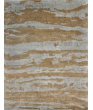 RugStudio presents Loloi Hermitage HE-12 Aqua - Latte Hand-Knotted, Good Quality Area Rug