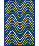 RugStudio presents Loloi Gracie GE-02 Blue / Multi Machine Woven, Good Quality Area Rug