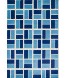 RugStudio presents Loloi Gracie Grachge04ivbb Ivory / Blue Machine Woven, Good Quality Area Rug