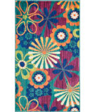 RugStudio presents Loloi Isabelle IS-01 Teal / Multi Machine Woven, Good Quality Area Rug