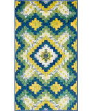 RugStudio presents Loloi Isabelle Isbehis03ivgr Ivory / Green Machine Woven, Good Quality Area Rug