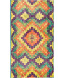 RugStudio presents Loloi Isabelle IS-03 Orange / Green Machine Woven, Good Quality Area Rug