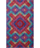 RugStudio presents Loloi Isabelle Isbehis03rete Red / Teal Machine Woven, Good Quality Area Rug