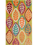 RugStudio presents Loloi Isabelle IS-04 Green / Multi Machine Woven, Good Quality Area Rug