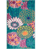 RugStudio presents Loloi Isabelle IS-05 Teal / Multi Machine Woven, Good Quality Area Rug