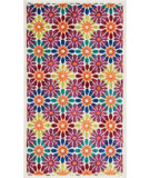 RugStudio presents Loloi Isabelle Isbehis06ivml Ivory / Multi Machine Woven, Good Quality Area Rug
