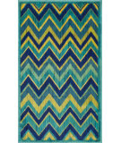 RugStudio presents Loloi Isabelle IS-07 Green / Multi Machine Woven, Good Quality Area Rug
