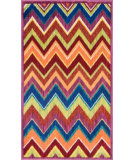 RugStudio presents Loloi Isabelle IS-07 Pink / Multi Machine Woven, Good Quality Area Rug