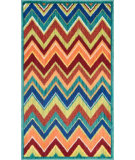RugStudio presents Loloi Isabelle IS-07 Teal / Multi Machine Woven, Good Quality Area Rug