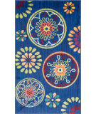 RugStudio presents Loloi Isabelle Isbehis08bbml Blue / Multi Machine Woven, Good Quality Area Rug