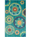 RugStudio presents Loloi Isabelle IS-08 Teal / Multi Machine Woven, Good Quality Area Rug