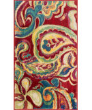 RugStudio presents Loloi Isabelle IS-10 Red / Multi Machine Woven, Good Quality Area Rug