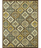 RugStudio presents Loloi Halton HL-02 Lt. Brown - Teal Machine Woven, Good Quality Area Rug
