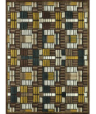 RugStudio presents Rugstudio Sample Sale 54027R Brown - Teal Machine Woven, Good Quality Area Rug