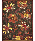 RugStudio presents Loloi Halton HL-11 Dark Brown - Rust Machine Woven, Good Quality Area Rug