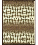 RugStudio presents Loloi Halton HL-16 Dark Brown - Beige Machine Woven, Good Quality Area Rug