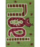RugStudio presents Loloi Skylar SK-17 Green / Red Woven Area Rug