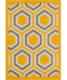 RugStudio presents Loloi Terrace TC-01 Lemon / Grey Machine Woven, Good Quality Area Rug
