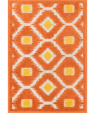 RugStudio presents Loloi Terrace TC-08 Orange / Lemon Machine Woven, Good Quality Area Rug