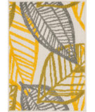 RugStudio presents Loloi Terrace TC-17 Ivory / Citron Machine Woven, Good Quality Area Rug