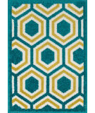 RugStudio presents Loloi Terrace TC-01 Peacock / Citron Machine Woven, Good Quality Area Rug