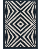 RugStudio presents Loloi Terrace Terchtc04ivnv Ivory / Navy Machine Woven, Good Quality Area Rug