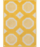 RugStudio presents Loloi Terrace TC-07 Lemon / Ivory Machine Woven, Good Quality Area Rug