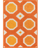 RugStudio presents Loloi Terrace TC-07 Orange / Ivory Machine Woven, Good Quality Area Rug