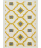 RugStudio presents Loloi Terrace Terchtc07xciv Citron / Ivory Machine Woven, Good Quality Area Rug