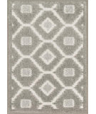 RugStudio presents Loloi Terrace TC-08 Ivory / Grey Machine Woven, Good Quality Area Rug