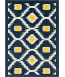 RugStudio presents Loloi Terrace TC-08 Navy / Lemon Machine Woven, Good Quality Area Rug