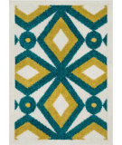 RugStudio presents Loloi Terrace TC-09 Teal / Citron Machine Woven, Good Quality Area Rug