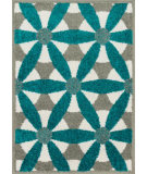 RugStudio presents Loloi Terrace TC-15 Grey / Teal Machine Woven, Good Quality Area Rug