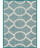 RugStudio presents Loloi Terrace Terchtc20teiv Teal / Ivory Machine Woven, Good Quality Area Rug
