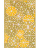 RugStudio presents Loloi Tilley TI-01 Green / Yellow Machine Woven, Good Quality Area Rug