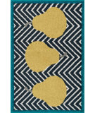 RugStudio presents Loloi Tilley TI-02 Navy / Green Machine Woven, Good Quality Area Rug