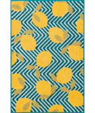 RugStudio presents Loloi Tilley Tillhti05bbye Blue / Yellow Machine Woven, Good Quality Area Rug