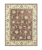 RugStudio presents Loloi Hyde HY-07 Burgundy Ivory Hand-Tufted, Best Quality Area Rug
