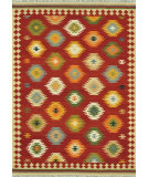 RugStudio presents Rugstudio Sample Sale 68367R Red / Multi Flat-Woven Area Rug