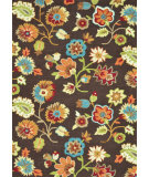 RugStudio presents Loloi Juliana Jl-22 Brown / Floral Hand-Hooked Area Rug
