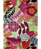 RugStudio presents Loloi Juliana Jl-24 Ivory / Berry Hand-Hooked Area Rug