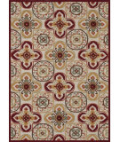 RugStudio presents Loloi Juliana Jl-26 Ivory / Red Hand-Hooked Area Rug