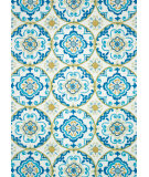 RugStudio presents Loloi Juliana Jl-30 Ivory / Blue Hand-Hooked Area Rug