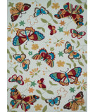 RugStudio presents Loloi Juliana Jl-31 Ivory / Butterfly Hand-Hooked Area Rug