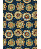 RugStudio presents Loloi Juliana Jl-33 Navy / Multi Hand-Hooked Area Rug