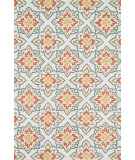 RugStudio presents Loloi Juliana Julijl-35 Ivory / Rust Hand-Hooked Area Rug